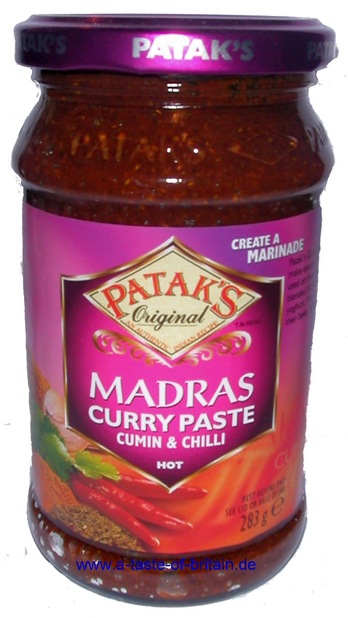 Patak's Madras Curry Paste 283g - A Taste of Britain